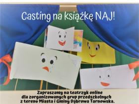 plakat promujący teatrzyk online