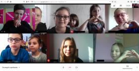 Printscreen ze spotkania online DKK dla Dzieci