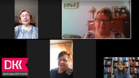 Twarze czterech kobiet. W lewym dolnym rogu logo z napisem Dyskusyjny Klub Książki